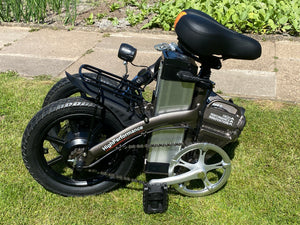 Folding E-Bike with Throttle G-Hybrid Compact White
