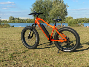 Fat Tyre Electric Bicycle G-Hybrid Mammoth Black 500w Motor 48v Battery