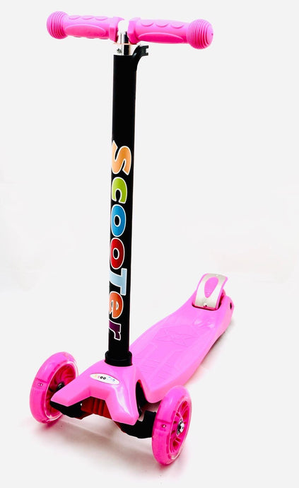 Kids 3 Wheel Scooter with LED Motion Lights Pink Age 4+ HALF PRICE