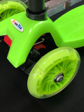 Load image into Gallery viewer, Kids 3 Wheel Scooter with LED Motion Lights Green Age 4+ HALF PRICE