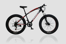 Load image into Gallery viewer, Fat Tyre Bike Mammoth FT03 26x4 inch with 21 Speed Black