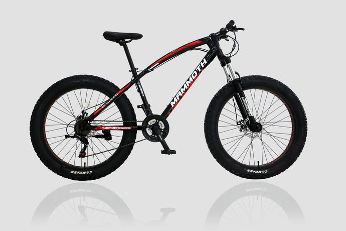 Fat Tyre Bike Mammoth FT03 26x4 inch with 21 Speed Black
