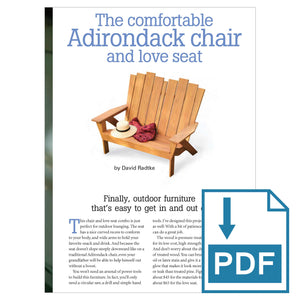 Adirondack Chair and Love Seat - Family Handyman Shop