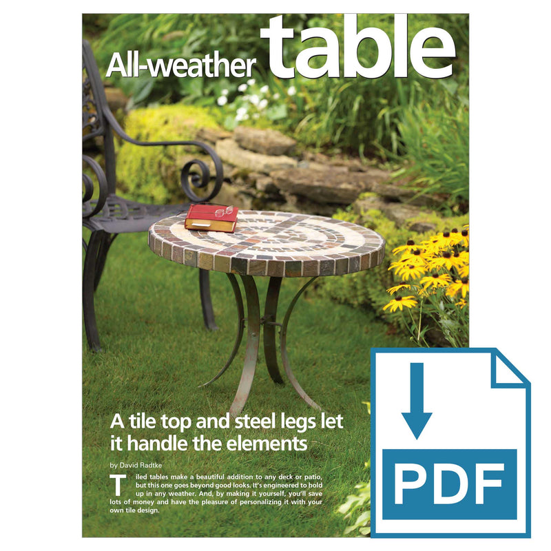 All-Weather Outdoor Table - Family Handyman Shop