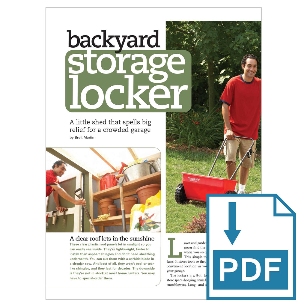 Backyard Storage Locker - Family Handyman Shop