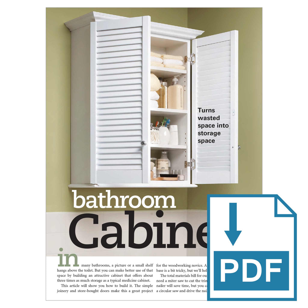Bath Cabinet - Family Handyman Shop