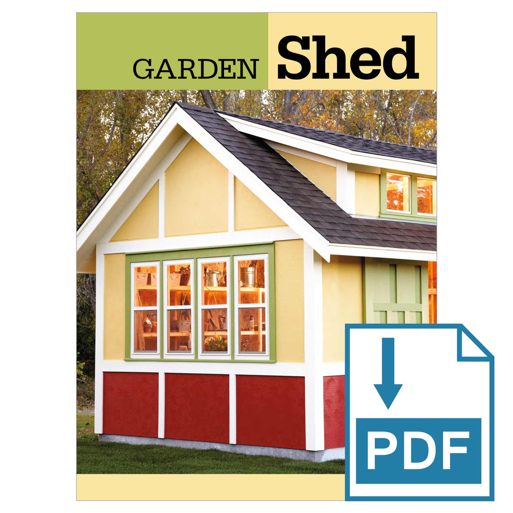Bright and Spacious Garden Shed