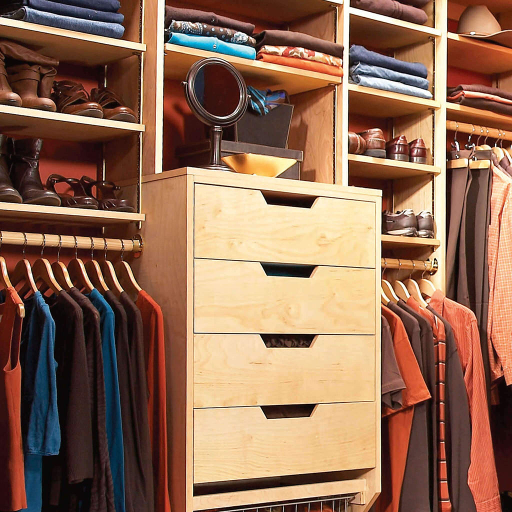 Built-In Closet Storage Drawers