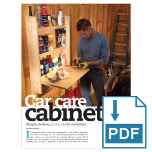 Car Care Cabinet - Family Handyman Shop