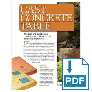 Cast Concrete Table - Family Handyman Shop
