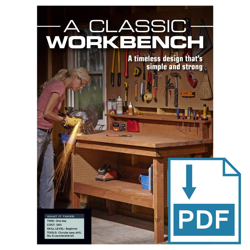 Classic Workbench - Family Handyman Shop