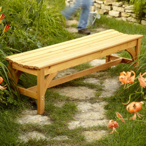 Curved Seat Garden Bench - Family Handyman Shop