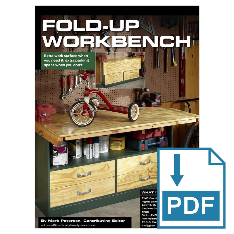 Fold-up Workbench - Family Handyman Shop