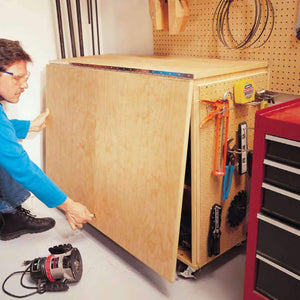 Folding Workbench - Family Handyman Shop