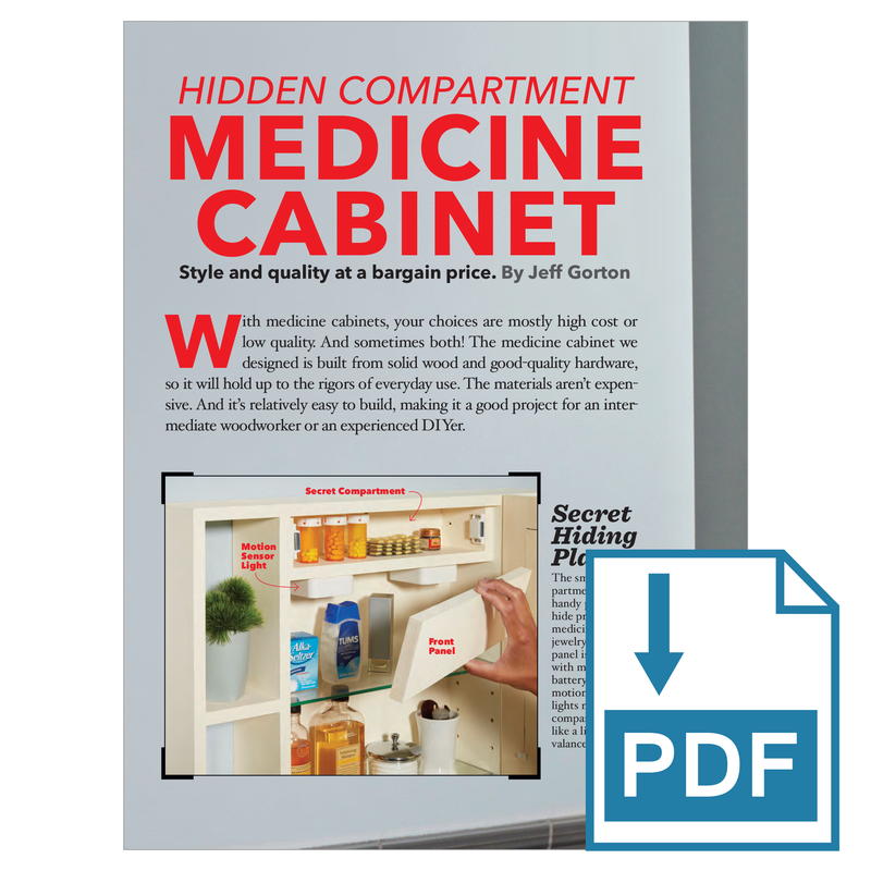 Hidden Compartment Medicine Cabinet