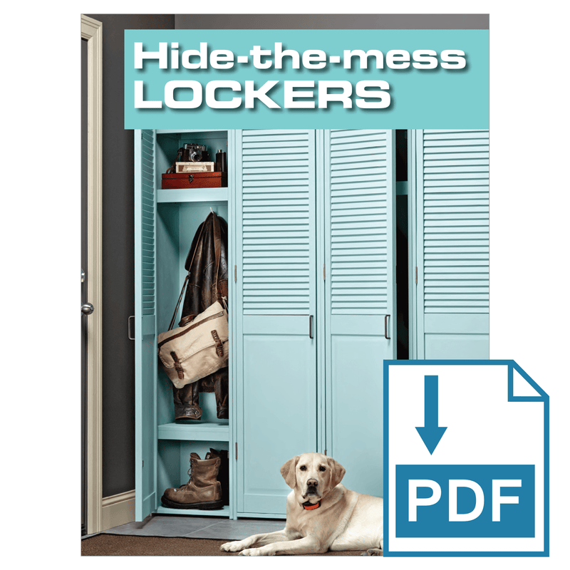 Hide the Mess Storage Lockers - Family Handyman Shop