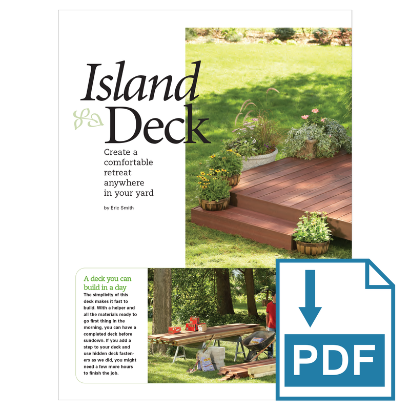 Island Deck - Family Handyman Shop