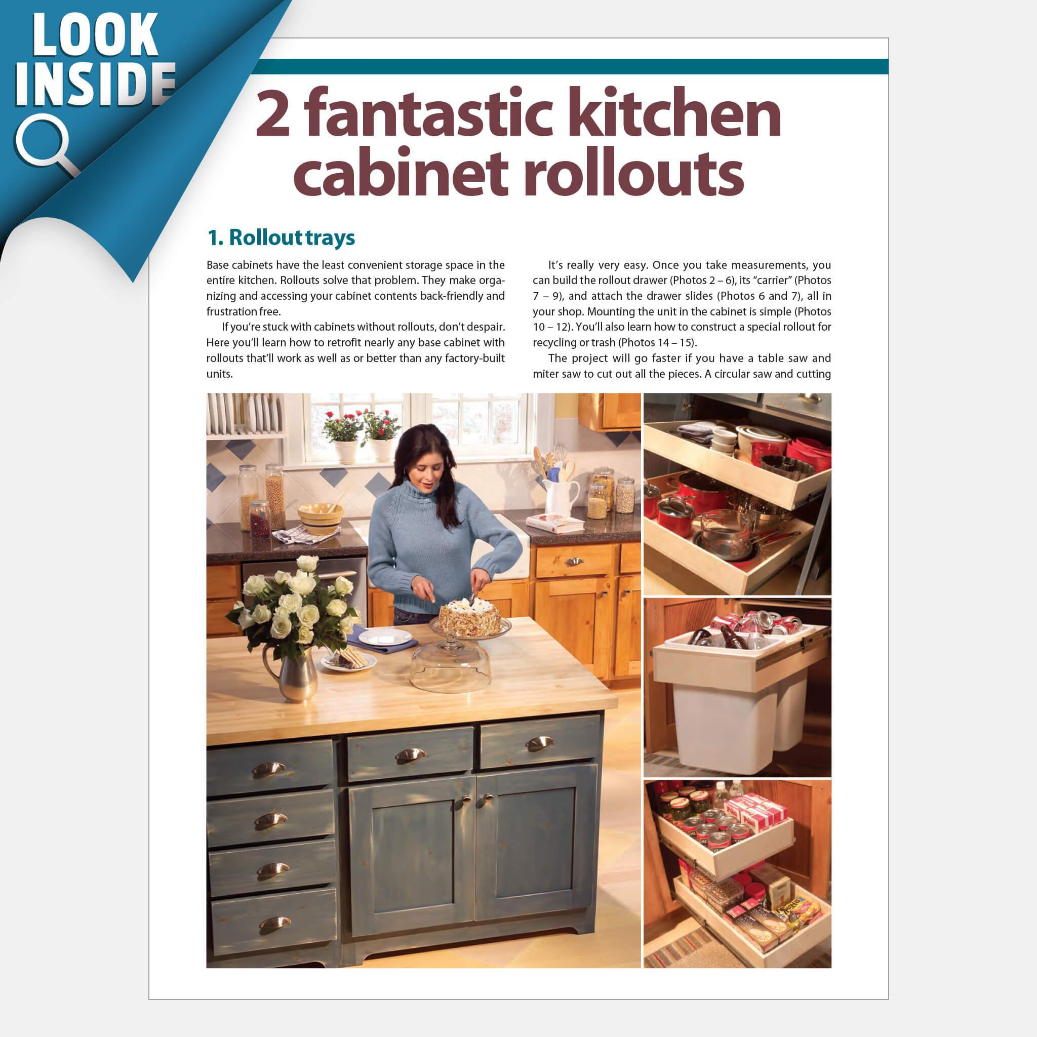 Pull Out Kitchen Shelves Base Cabinet Rollouts Family Handyman Shop