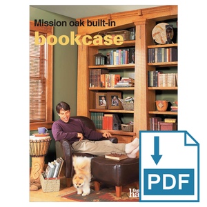 Mission Oak Built-in Bookcase - Family Handyman Shop