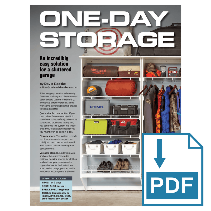 One-Day Garage Storage System