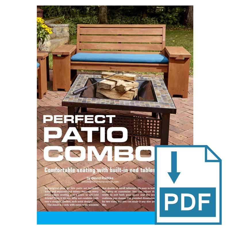 Patio Bench with Built-in End Tables