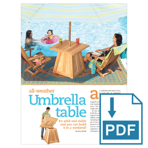 Patio Umbrella Stand Table