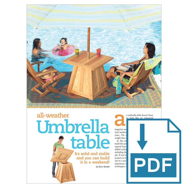 Patio Umbrella Stand Table - Family Handyman Shop