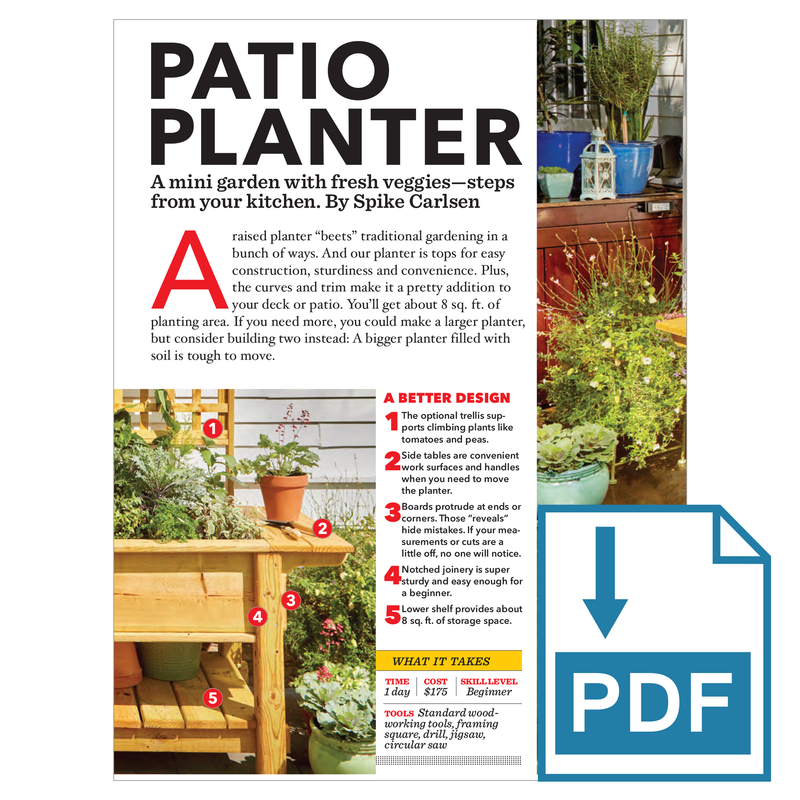 Patio Planter - Family Handyman Shop