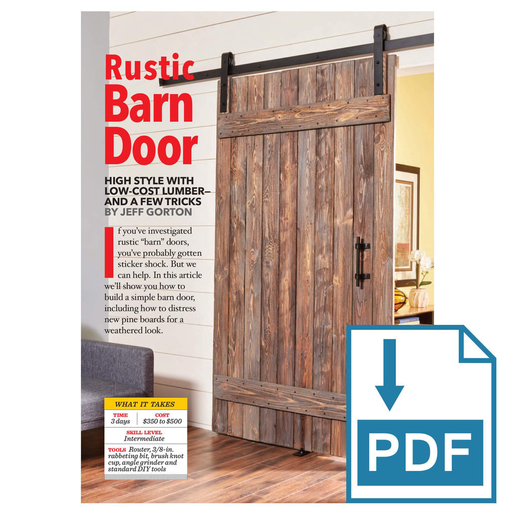 Rustic Barn Door - Family Handyman Shop