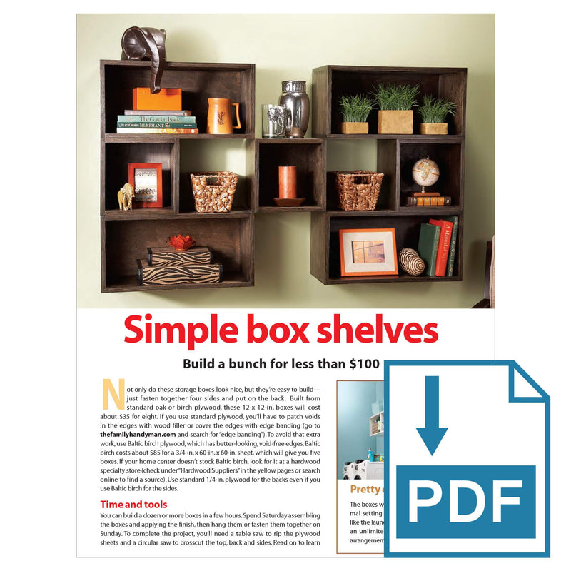 Simple Box Shelves