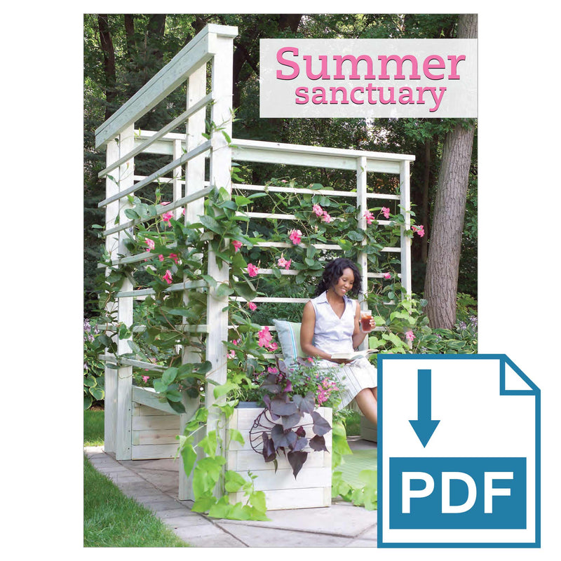 Summer Sanctuary Trellis & Benches - Family Handyman Shop