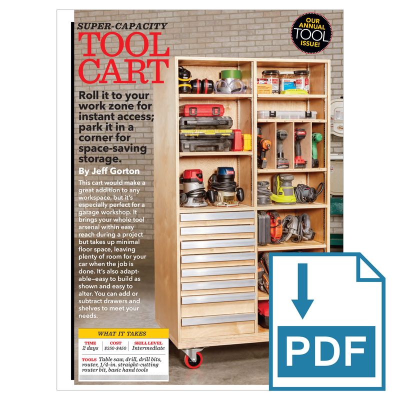 Super-Capacity Tool Cart - Family Handyman Shop