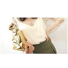 Load image into Gallery viewer, Becca Metallic Paperbag clutch SGD35 mailed