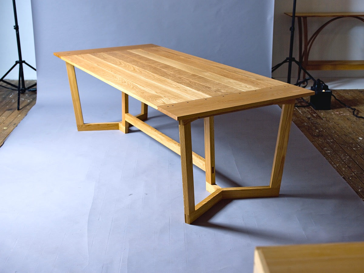 Bread board end oak Dining Table