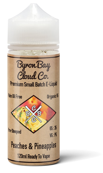 Peaches and Pineapple E Juice Byron Bay Cloud Co Best Price Australia Brisbane