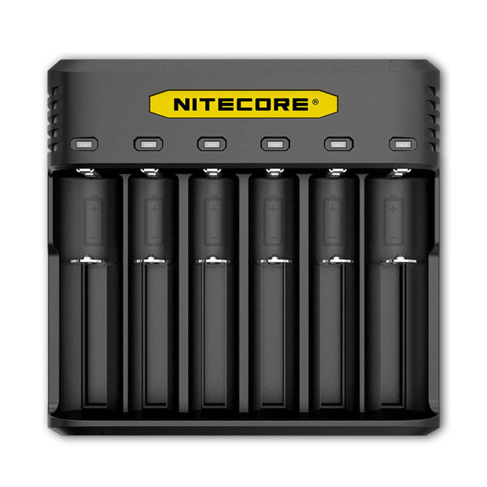 six 6 bay vape battery charger Australia, Brisbane. Compatible with 18650 20700 and 21700.