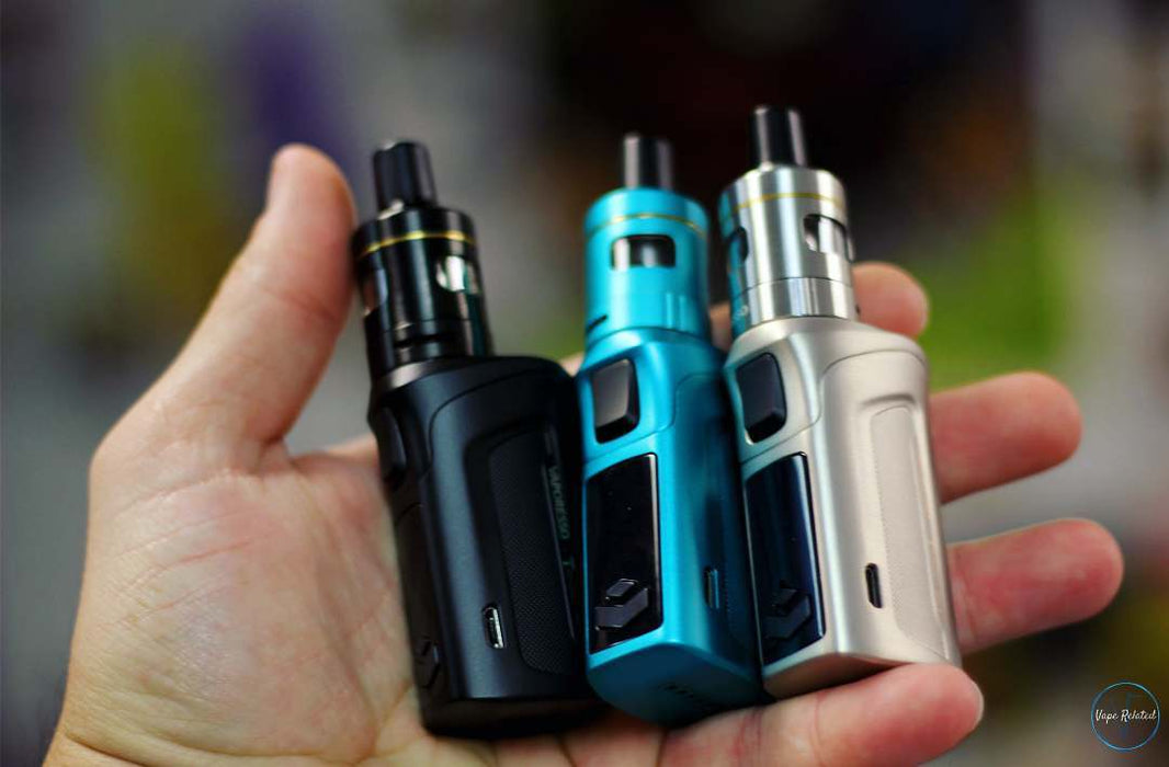 Vaporesso Target Mini 2 starter kit; silver; teal; blue; black