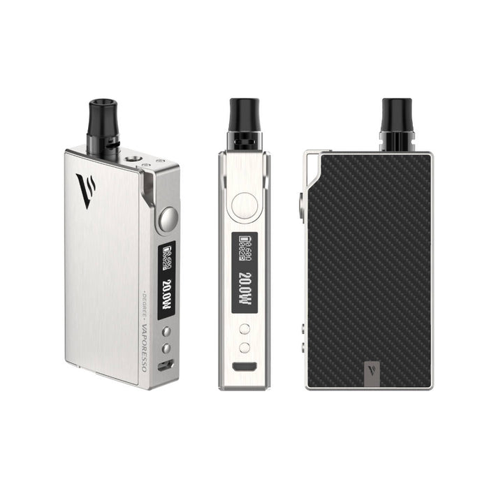 vaporesso degree pod system new silver carbon fibre-brisbane-vaperelated-australia