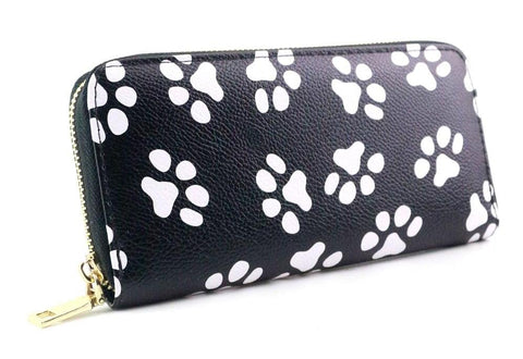 Women Wallet With Dog Paw