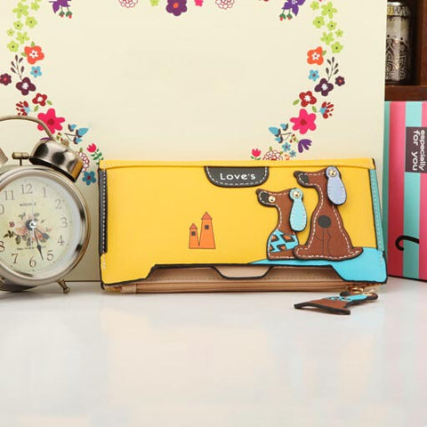 Women Wallet With Dog Cartoon