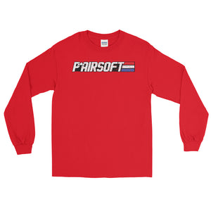 P* Airsoft RETRO logo  Men's Long Sleeve Shirt