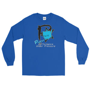 "Purrformance Under Pressure - Men's Long Sleeve Shirt - ""Animal Rescue Fundraiser"""