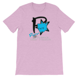 "Purrformance Under Pressure - Short-Sleeve Unisex T-Shirt --- ""Animal Rescue Fundraiser"""