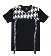 Black Houndstooth Tee