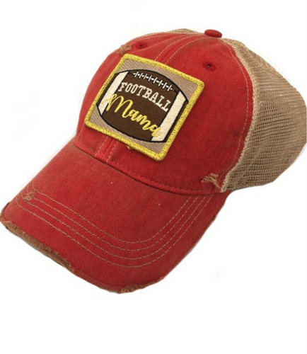 Red Football Mama Hat