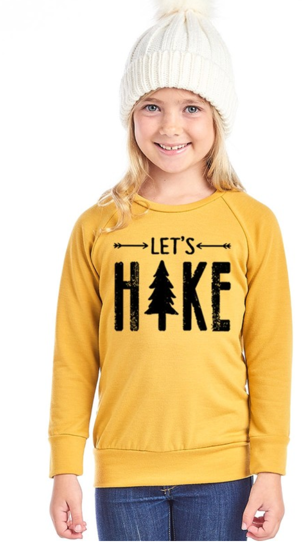 Let's Hike Kids Pullover