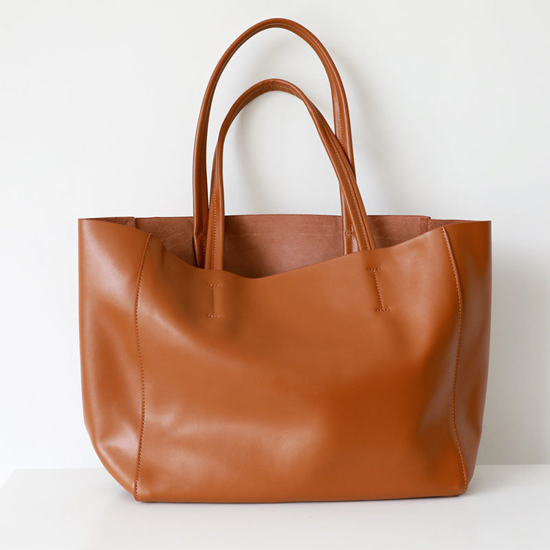 Cowhide Split Leather Big Bag Moooden