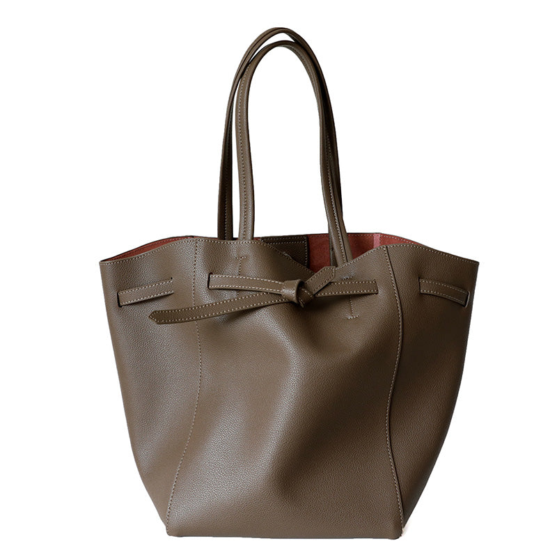 Split Leather Calfskin Bucket bag moooden