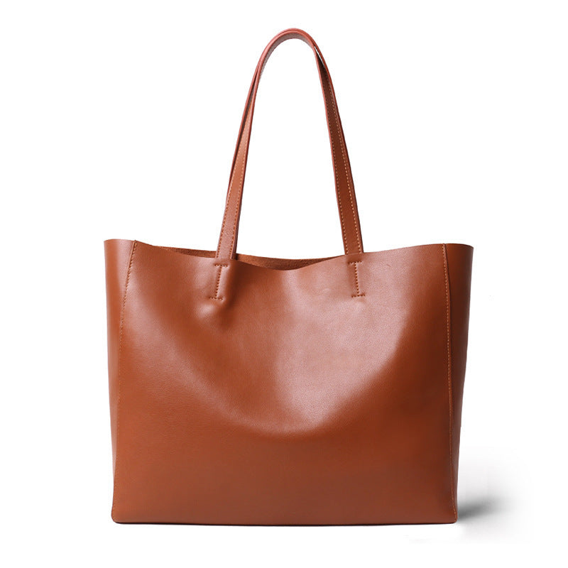 Full Grain Leather Big Bag moooden