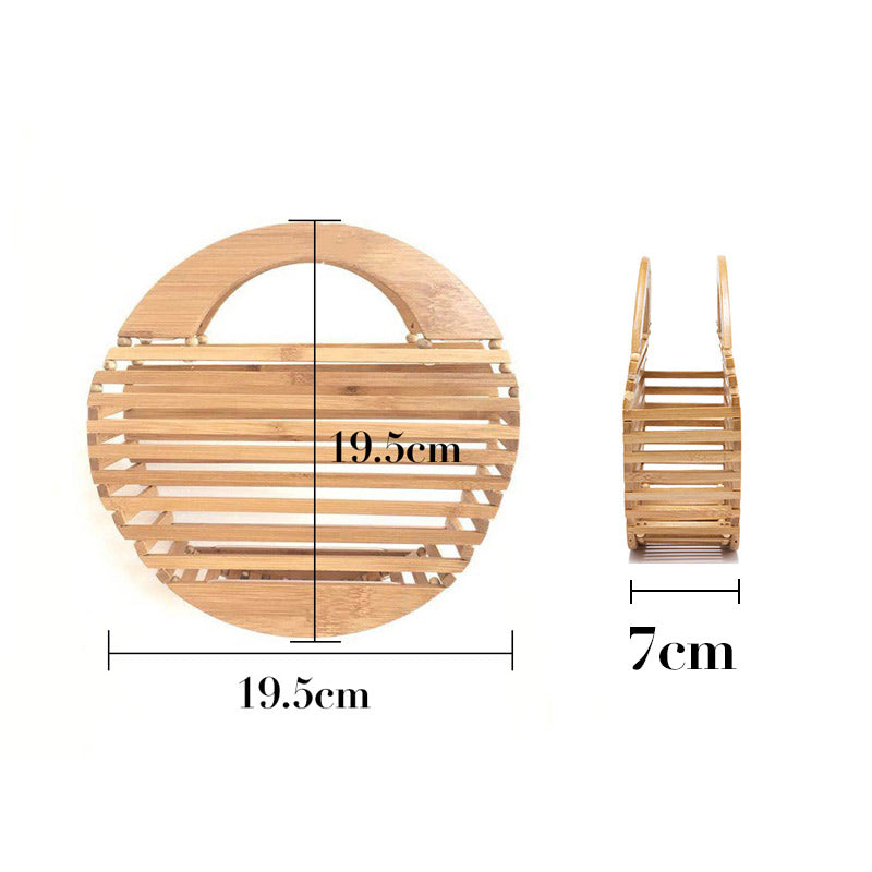 Round apple bamboo bag mooodencom